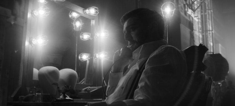 MANK (2020)Tom Burke as Orson Welles.NETFLIX