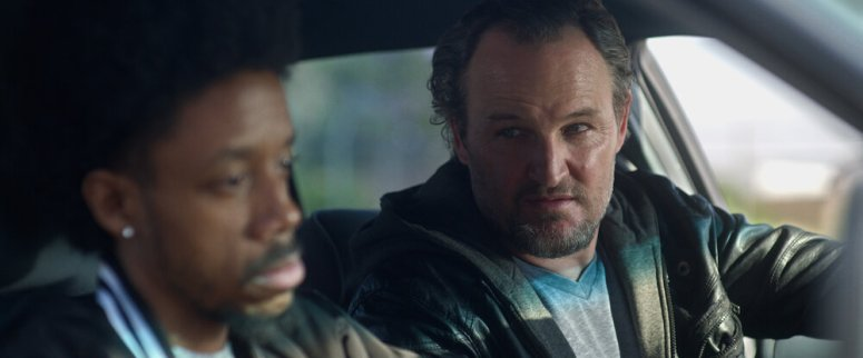Darrell Britt-Gibson as Rayford and Jason Clarke as Rick Bowden in Silk Road. Photo Credit: Courtesy of Lionsgate