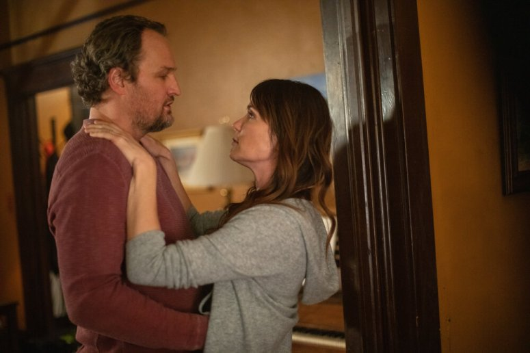 Jason Clarke as Rick Bowden and Katie Aselton as Sandy Bowden in Silk Road. Photo Credit: Catherine Kanavy