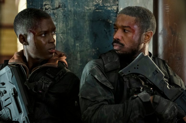 Jodie Turner-Smith and Michael B. Jordan star in WITHOUT REMORSE Photo: Nadja Klier © 2020 Paramount Pictures